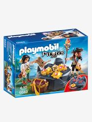 Jouet-Figurines et mondes imaginaires-Pirates et trésor royal Playmobil Pirates